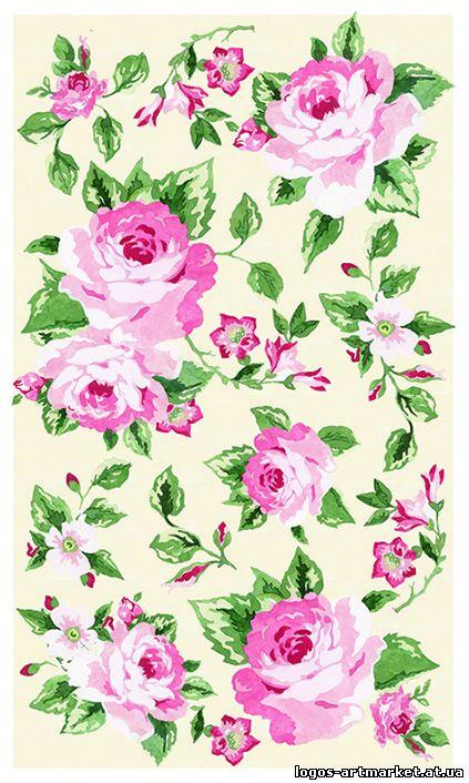 Скачать схему вышивки розы для